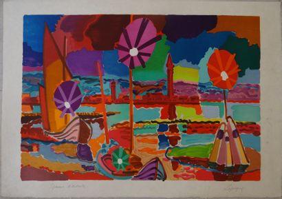 Charles LAPICQUE (1898-1988)  Venise  Lithographie...