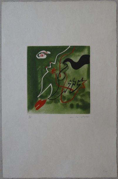 André MASSON (1896-1987)  Composition  Eau-forte...