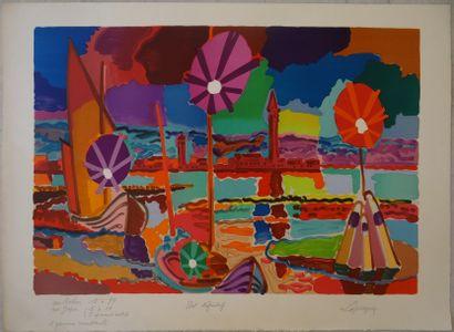 Charles LAPICQUE (1898-1988)  Venise  Ensemble...