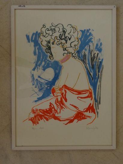 Alain BONNEFOIT (Paris 1937)  Femme assise...