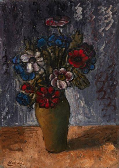 Amand BOUVIER (1913-1997)  Le bouquet  Huile...