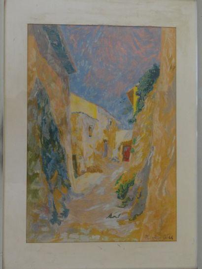 Alain BONNEFOIT (Paris 1937)  Rue de village...