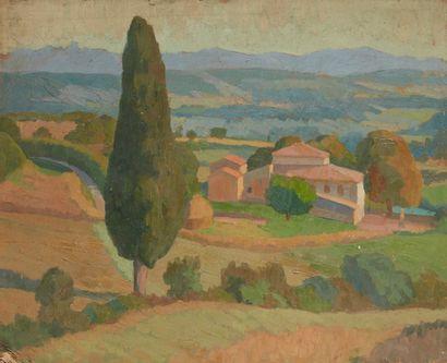 Albert COSTE (Marseille 1895 - 1985)  Paysage...