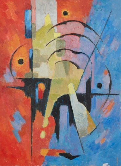 Albert COSTE (Marseille 1895 - 1985)  Composition...