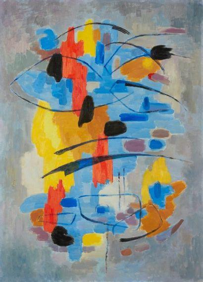 Albert COSTE (Marseille 1895 - 1985)  Composition  Huile sur toile  100,5 x 73 cm...