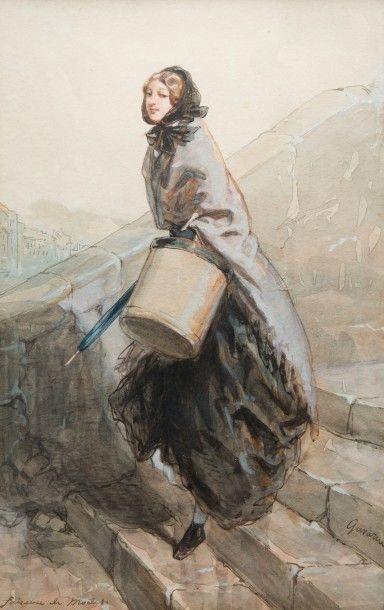 SULPICE GUILLAUME CHAVALIER DIT PAUL GAVARNI (PARIS 1804 - 1866)