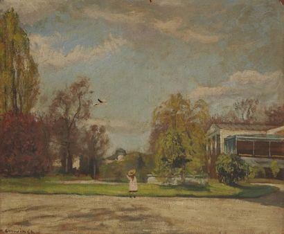 Charles CAMOIN (Marseille 1879-Paris 1965) Promenade au parc, vers 1903 Huile sur...