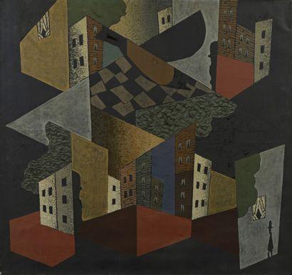 Léopold SURVAGE (1879- 1968)<br>Ville et oiseau