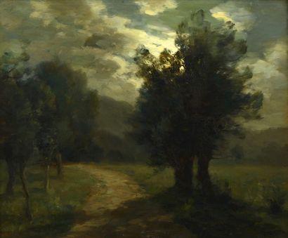 François-Charles CACHOUD (Chambery 1866- Saint Alban de Montbel 1943)  Clair de...