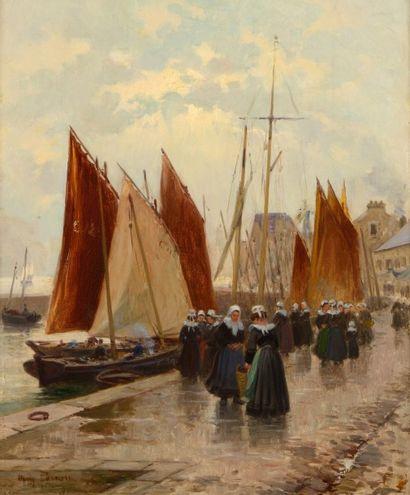 Henri BARNOIN (Paris 1882 - 1940)  Bretonnes...