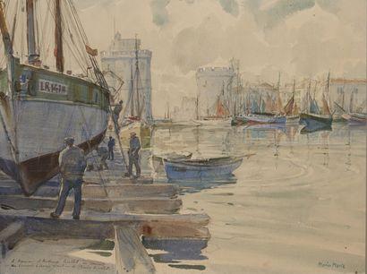 MARIN-MARIE (Fougerolles du Plessis 1901 - Saint Hiliare du Harcouet 1987) Le port...