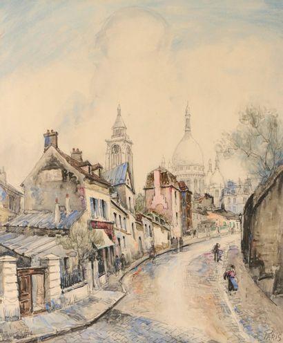 FRANK- WILL (Nanterre 1900-1951)  Rue Lepic...
