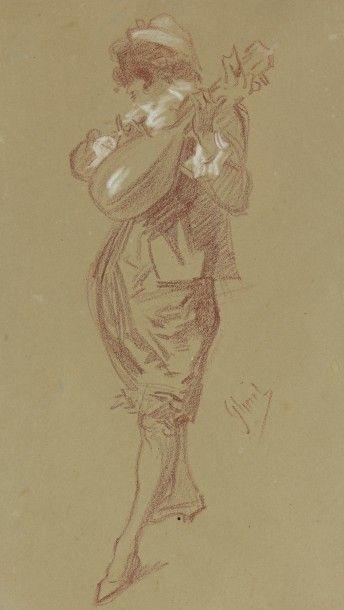 Jules CHERET (Paris 1836 - Nice 1932)  Joueur...