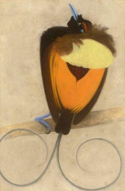 Simon BUSSY (Dôle 1870 - Londres 1954)  Oiseau  Pastel  33,5 x 23 cm    Provenance:...