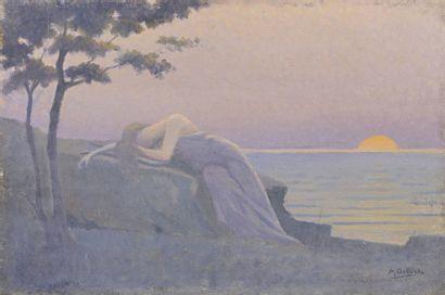 Alphonse OSBERT (Paris 1857 - 1939)  La muse...