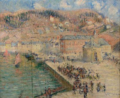 Gustave LOISEAU (Paris 1865-1935)  La criée...
