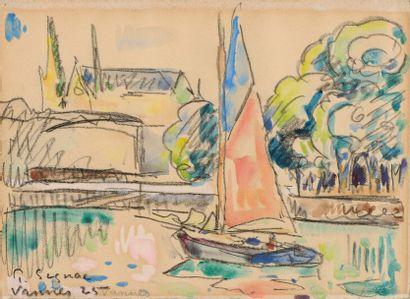 Paul SIGNAC (Paris 1863 - 1935)  Vannes,...