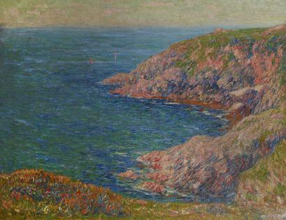 Henry MORET (1856 - 1913)<br>Falaises à Clohars-Carnoet, Printemps, 1904