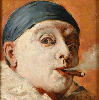 Armand HENRION (Liège 1875 - 1958)  Portrait...