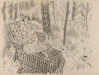 D'après Henri MATISSE  Jeune fille à la chaise...