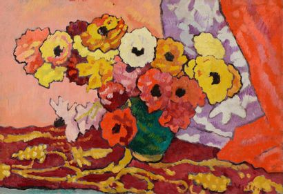Louis VALTAT (Dieppe 1869 - Paris 1952)  Bouquet...
