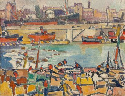 Louis VALTAT (Dieppe 1869 - Paris 1952)  Scène...