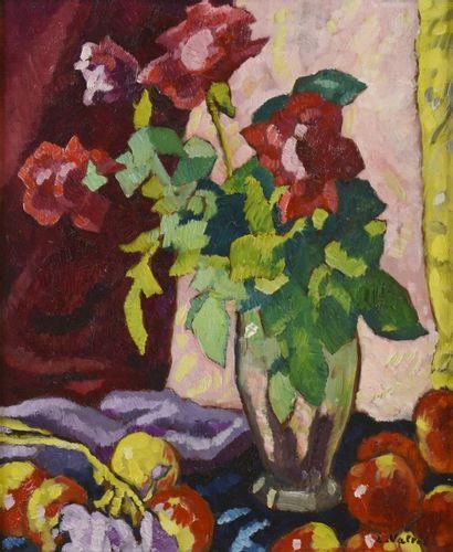 Louis VALTAT (Dieppe 1869 - Paris 1952)  Roses...