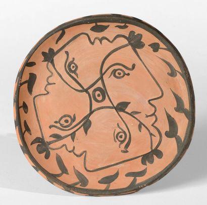 Pablo PICASSO (1881 - 1973)  Quatre profils...