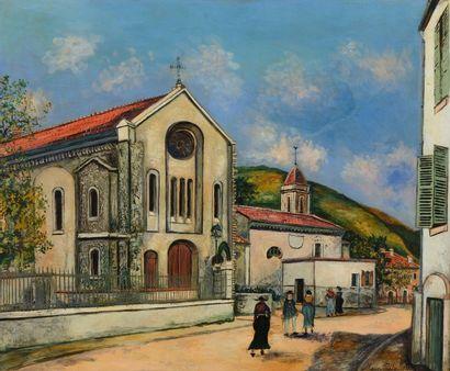 Maurice UTRILLO (Paris 1883 - Dax 1955)  Eglise...