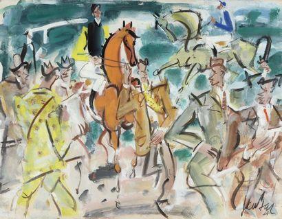 GEN PAUL (Paris 1895- 1975)  Cavaliers et...