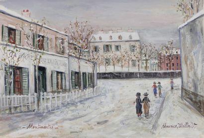 Maurice UTRILLO (Paris 1883 - Dax 1955)  Montmartre...
