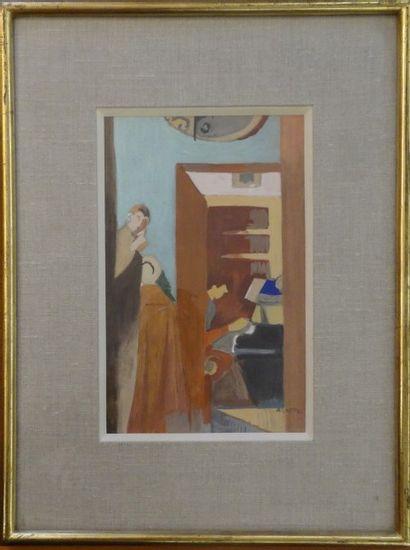 André LHOTE (Bordeaux 1885- Paris 1962)  Intérieur...
