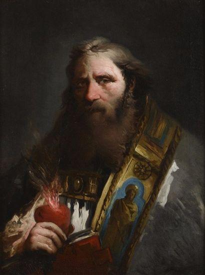 Giovanni Domenico TIEPOLO<br>(1727 - 1804)<br> Saint Augustin