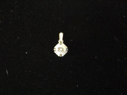 Pendentif diamant  Serti d'un diamant de...
