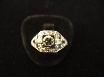 Bague diamants  De style Art Déco, sertie...