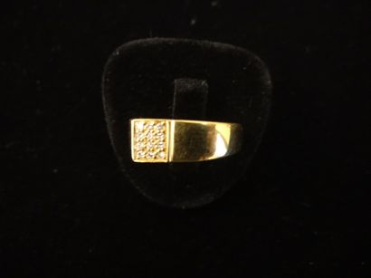 Bague diamants  de forme géométrique sertie...