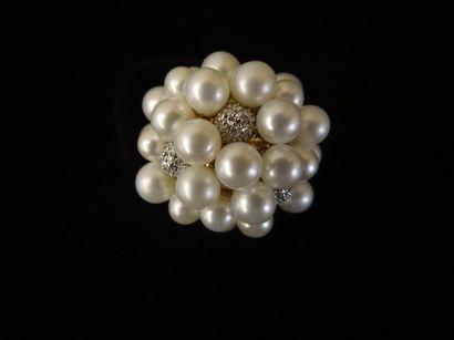 Bague perles et diamants  Modèle
