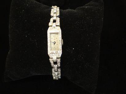 Montre bracelet de dame Art-Déco  Boîtier...