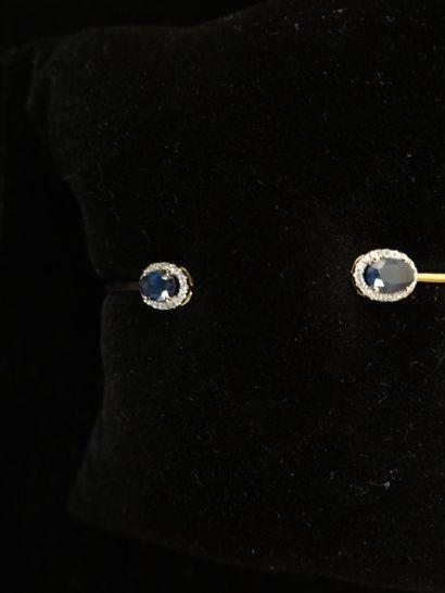 Bracelet saphirs et diamants  Serti de 2...