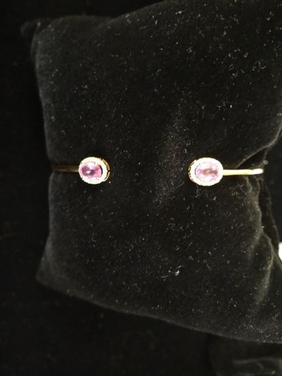 Bracelet saphirs roses et diamants  Serti...