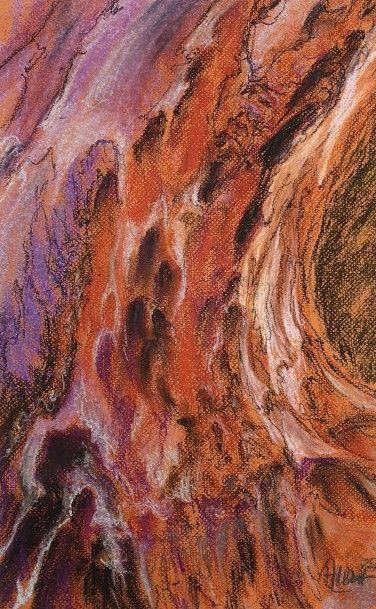 ALBERT Annie -Souche courbe rouge 2_pastel_ 27x43cm