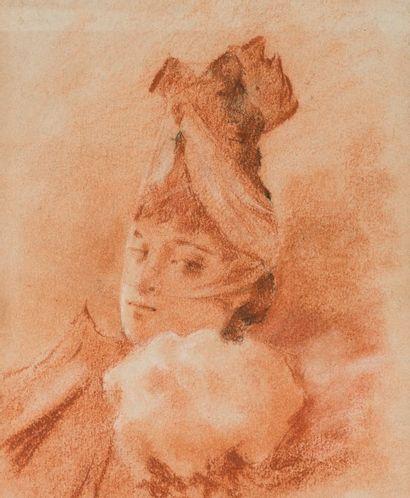 Ecole espagnole du XIXème siècle  Portrait...