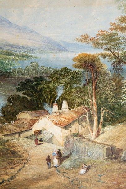 *Ecole ANGLAISE du XIXème siècle, d'après Thomas Miles RICHARDSON  Vue de Ullswater...