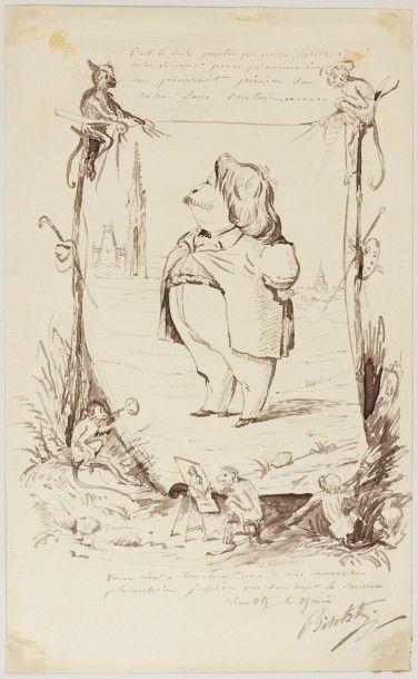 Album amirocum comprenant un ensemble de 75 dessins et quelques gravures des oeuvres...