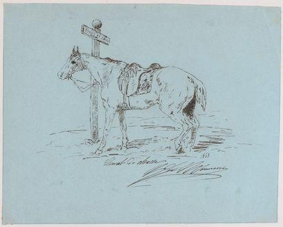 Album amicorum comprenant un ensemble de 87 dessins des oeuvres de Jouy, Kaplilski,...