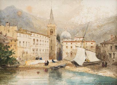 Justin OUVRIE (Paris 1806 - Rouen 1879)  Vue...