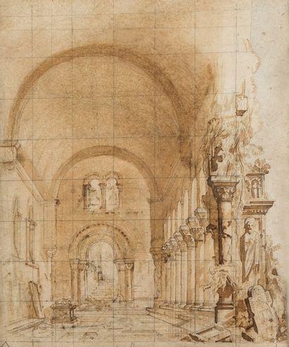 Jules DIETERLE (Paris 1811 - 1889)  Intérieur...