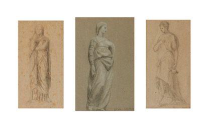 Paul DUBOIS (1829-1905)  Trois études de...