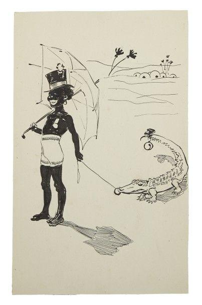 Jacques WELY (1873 - 1910)  Album de 77 caricatures...