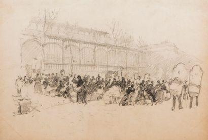 Georges SCOTT (Paris 1873 – 1943)  Les halles...